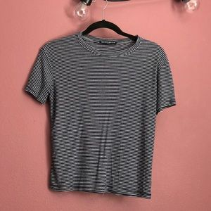 blue and white striped Brandy Melville top
